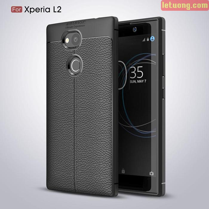 Ốp lưng Sony Xperia L2 LT Leather Design Case vân da sang trọng