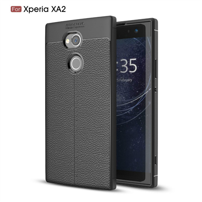 Ốp lưng Sony Xperia XA2 LT Leather Design Case vân da sang trọng