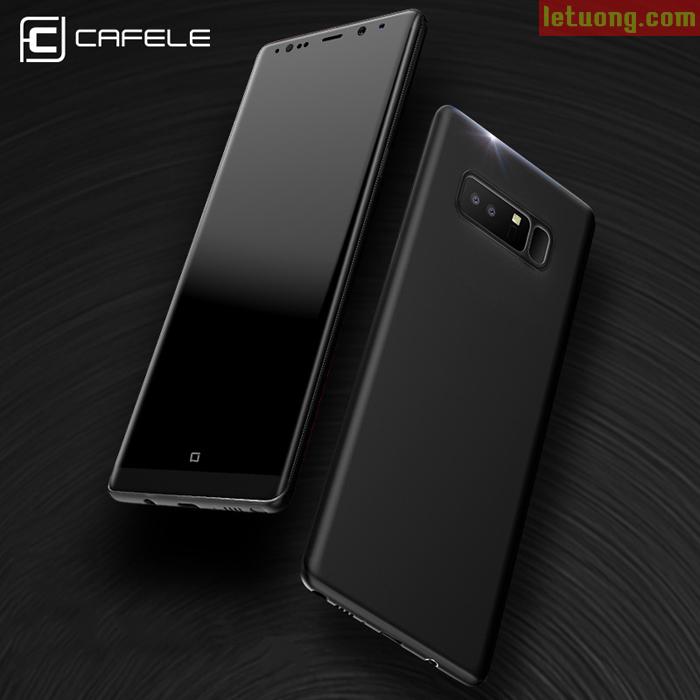 Ốp lưng Note 8 Cafele Slim Case nhựa cứng mỏng 0,4mm chống vân tay