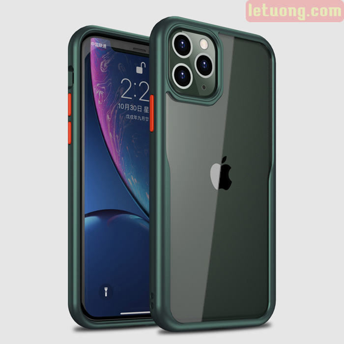 Ốp lưng iPhone 11 Pro Max Ipaky Shell Hybrid viền mềm + lưng trong suốt