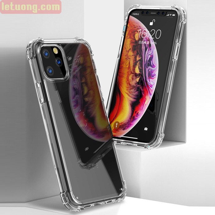 Ốp lưng iPhone 11 Pro iPaky Hybrid Crystal Through trong suốt chống sốc