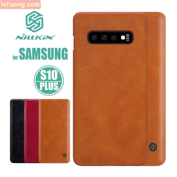 Bao da Galaxy S10 Plus Nillkin Qin Leather sang trọng - cổ điển