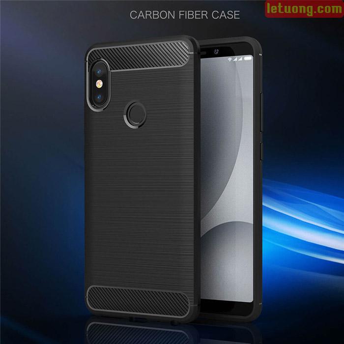 Ốp lưng Redmi Note 5 / Note 5 Pro Viseaon Rugged Armor Carbon nhựa mềm