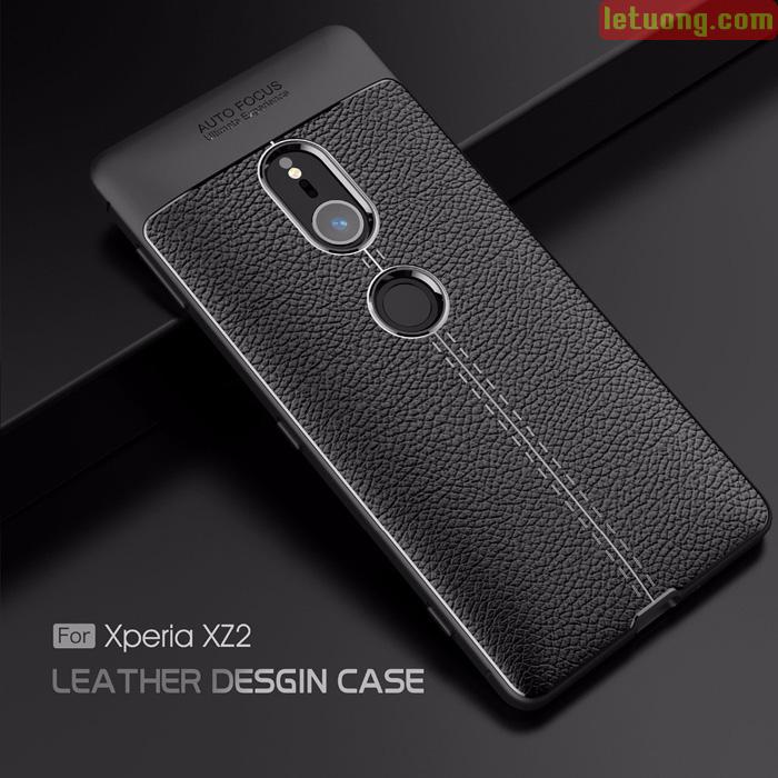 Ốp lưng Sony Xperia XZ2 LT Leather Design Case vân da chống sốc