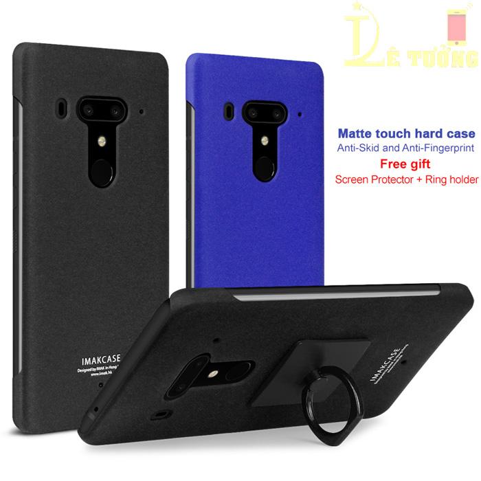 Ốp lưng HTC U12 Plus Imak Cowboy vân cát + Móc treo chống vân tay
