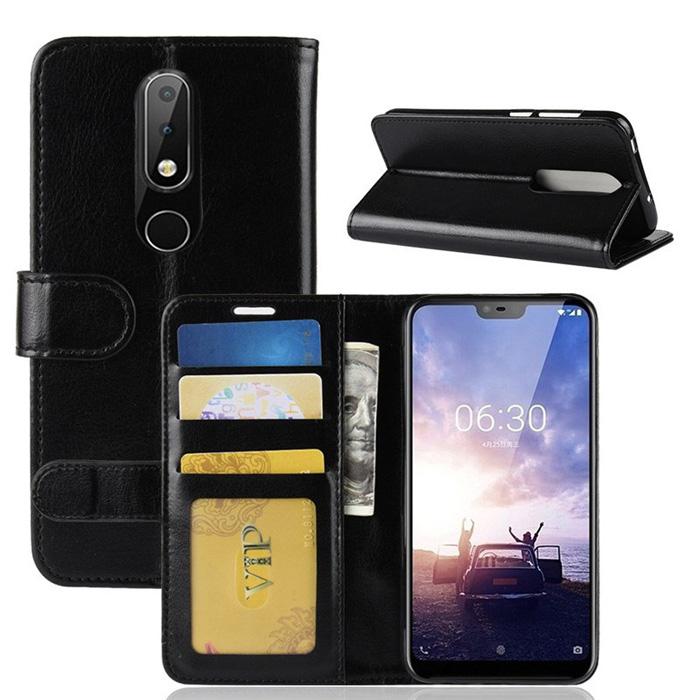 Bao da Nokia X6 2018 / Nokia 6.1 Plus LT Wallet Leather dạng ví đa năng - khung mềm
