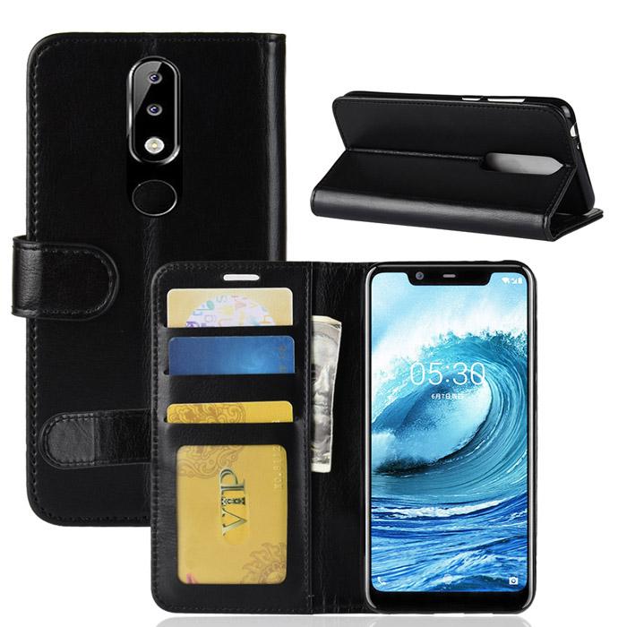Bao da Nokia 5.1 Plus LT Wallet Leather dạng ví đa năng - khung mềm