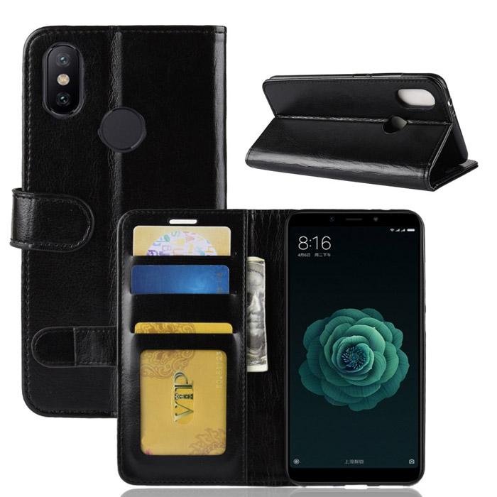 Bao da Xiaomi Mi 6X / Mi A2 LT Wallet Leather dạng ví đa năng - khung mềm