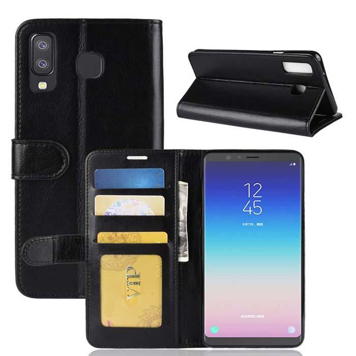 Bao da Galaxy A8 Star LT Wallet Leather dạng ví đa năng - khung mềm