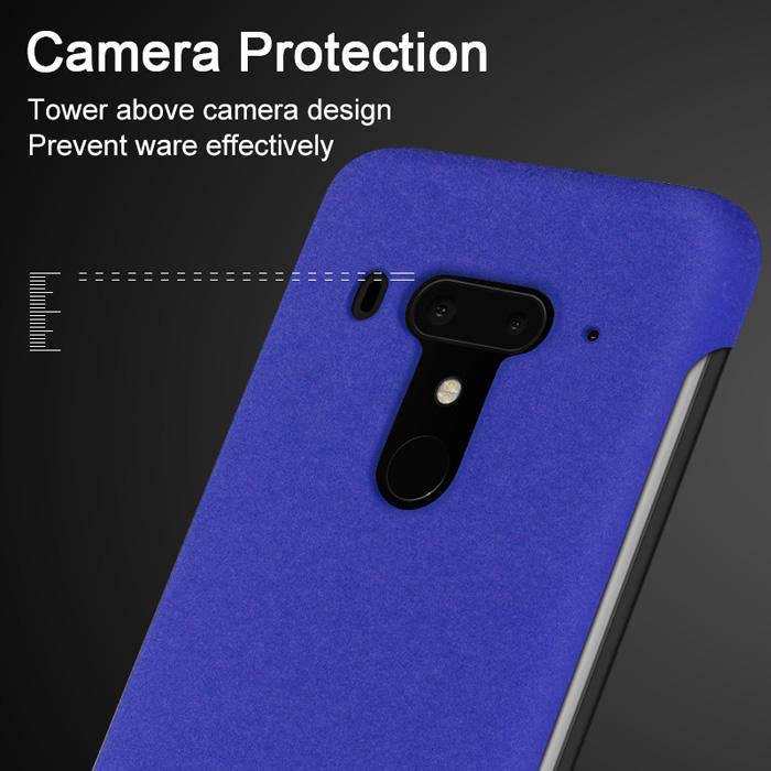 Ốp lưng HTC U12 Plus Imak Cowboy vân cát + Móc treo