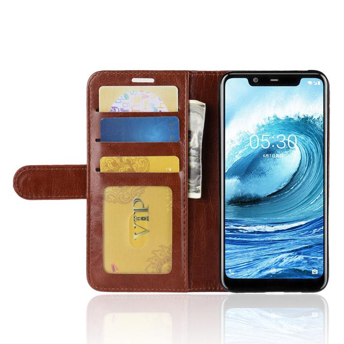 Bao da Nokia X5 LT Wallet Leather dạng ví đa năng - khung mềm