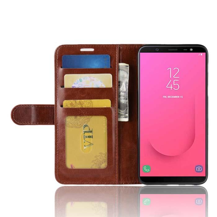 Bao da Galaxy J8 2018 LT Wallet Leather dạng ví đa năng - khung mềm