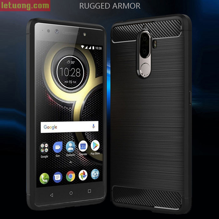 Ốp lưng Lenovo K8 Plus Viseaon Rugged Armor Carbon nhựa mềm