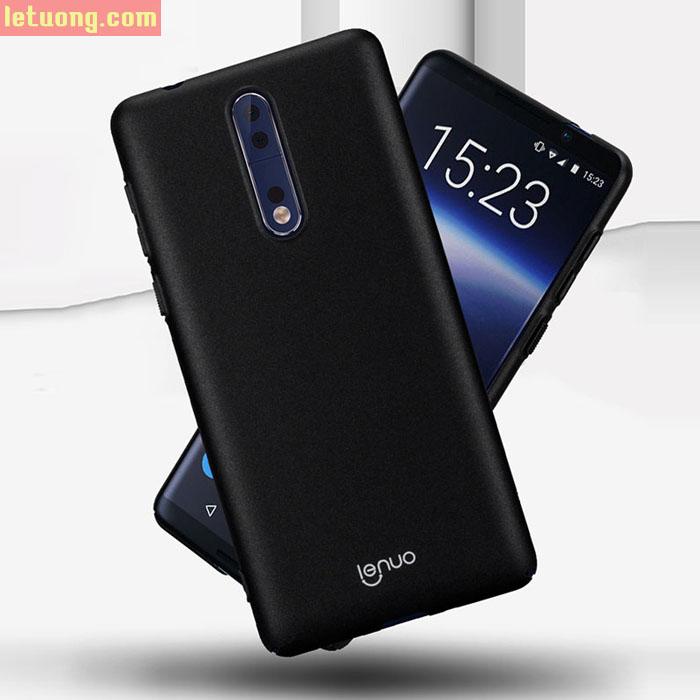 Ốp lưng Nokia 8 Lenuo Shield 360 siêu mỏng nhẹ, lưng mịn màng