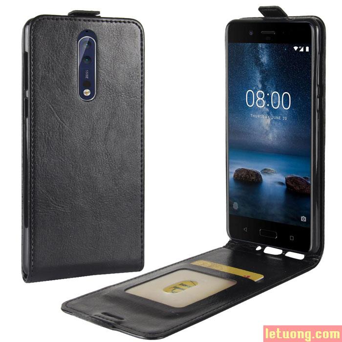 Bao da Nokia 8 LT Jacka Leather gập dọc sang trọng đẳng cấp
