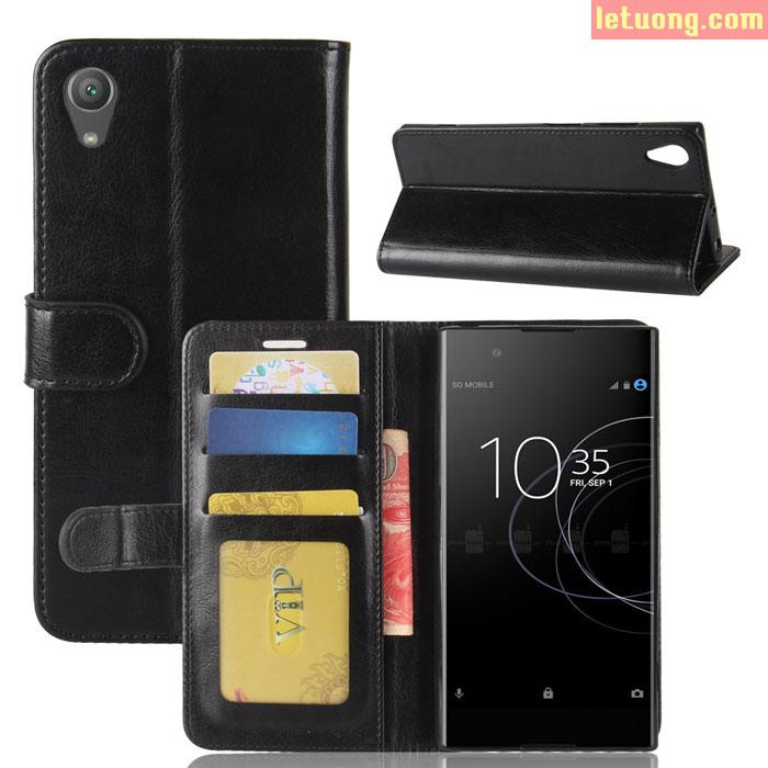 Bao da Sony XA1 Plus LT Flip Wallet khung mềm đa năng sang trọng