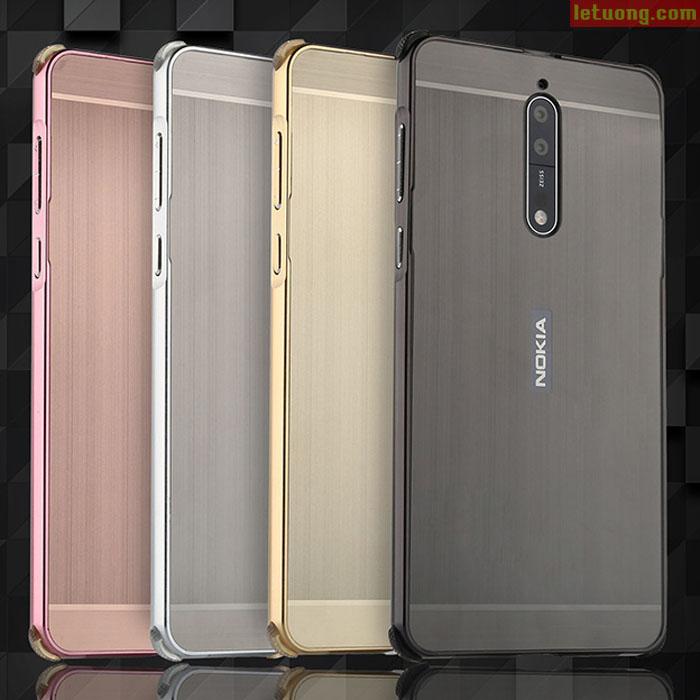 Ốp lưng Nokia 8 LT Metal nhôm phay viền nhôm cực đẹp