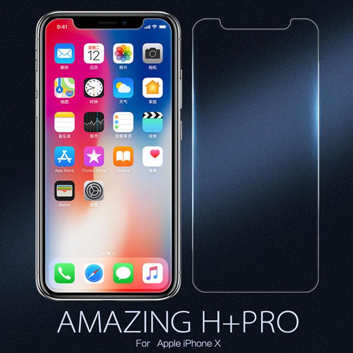Kính cường lực iPhone X / iPhone Xs Nillkin H+ Pro 0,2mm + Dán lưng Carbon