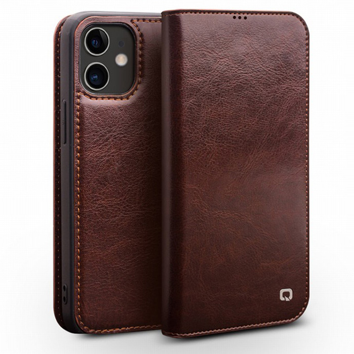 Bao da iPhone 12 / 12 Pro Qialino Classic Leather Hanmade da thật