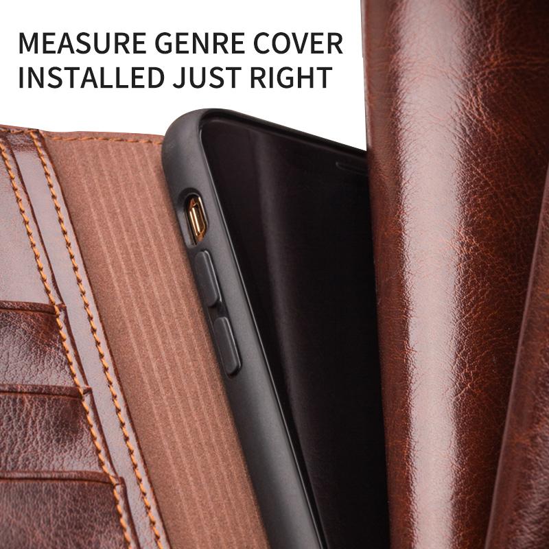 Bao da iPhone 12 / 12 Pro Qialino Classic Leather Hanmade da thật