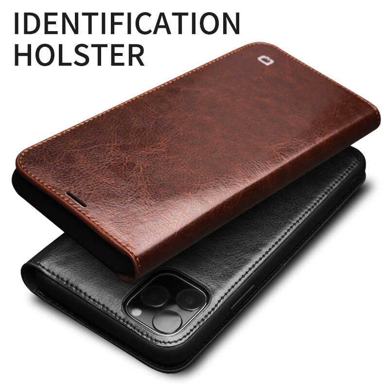 Bao da iPhone 12 Mini Qialino Classic Leather Hanmade da thật