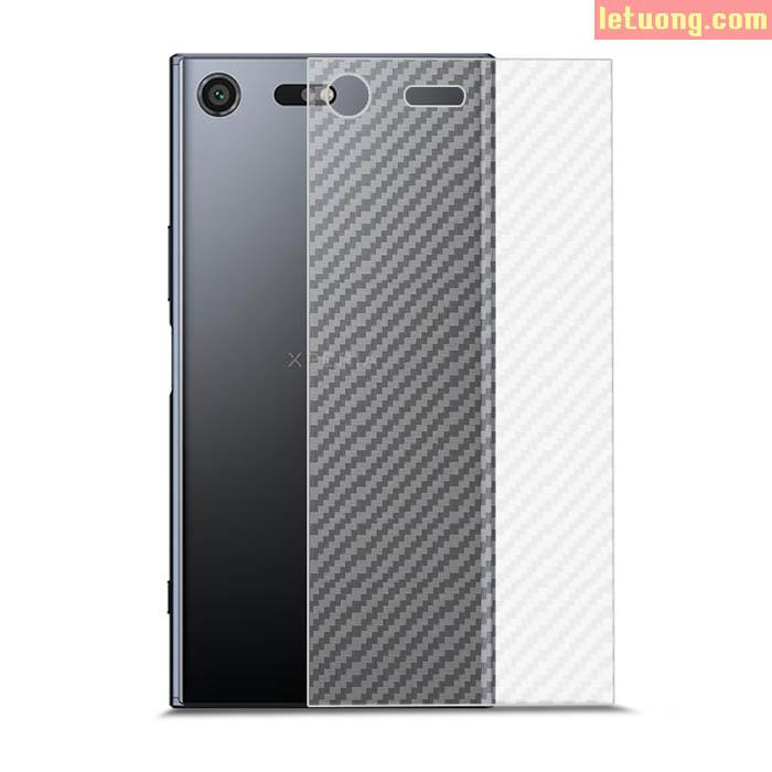 Miếng dán mặt lưng Sony Xperia XZ Premium vân Carbon chống vân tay