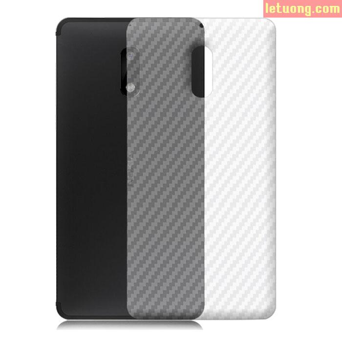 Miếng dán mặt lưng Nokia 6 vân Carbon chống vân tay trong suốt