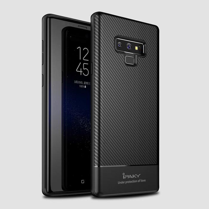 Ốp lưng Galaxy Note 9 Ipaky Carbon Fiber chống vân tay