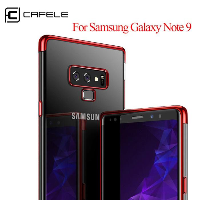 Ốp lưng Galaxy Note 9 Cafele Plating Case viền mạ Crom sáng bóng