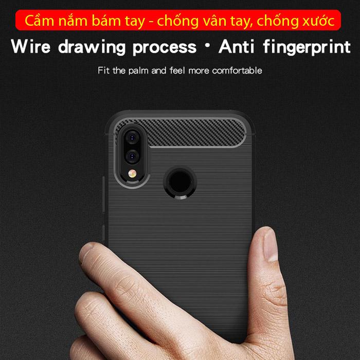 Ốp lưng Huawei Nova 3i Mofi Carbon Fiber nhựa mềm - chống sốc