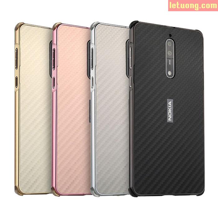Ốp lưng Nokia 8 LT Metal Carbon cực sang trọng, cực độc