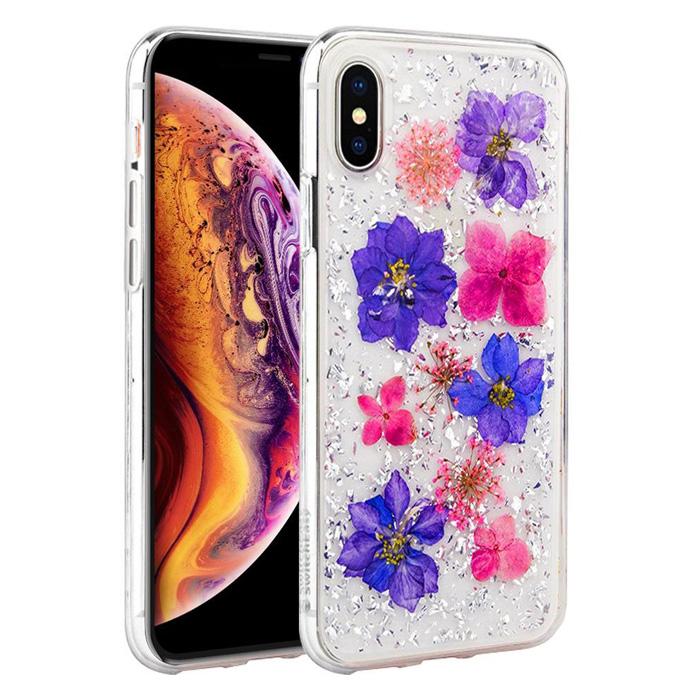 Ốp lưng iPhone Xs Max SwitchEasy Flash 3D - Hoa thật 100% cực độc