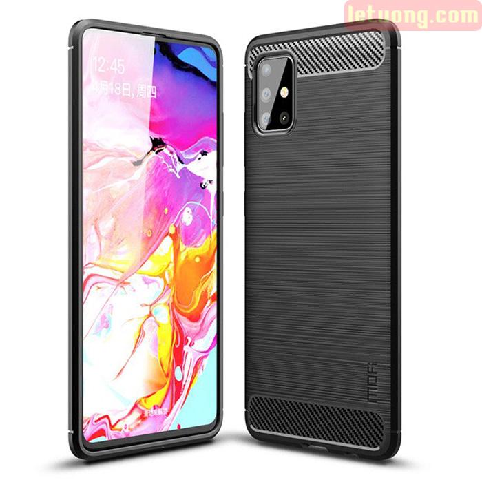 Ốp lưng Galaxy A51 Mofi Shen Du Carbon nhựa mềm - chống vân tay
