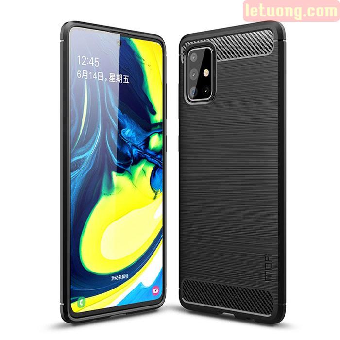Ốp lưng Galaxy A71 Mofi Shen Du Carbon nhựa mềm - chống vân tay