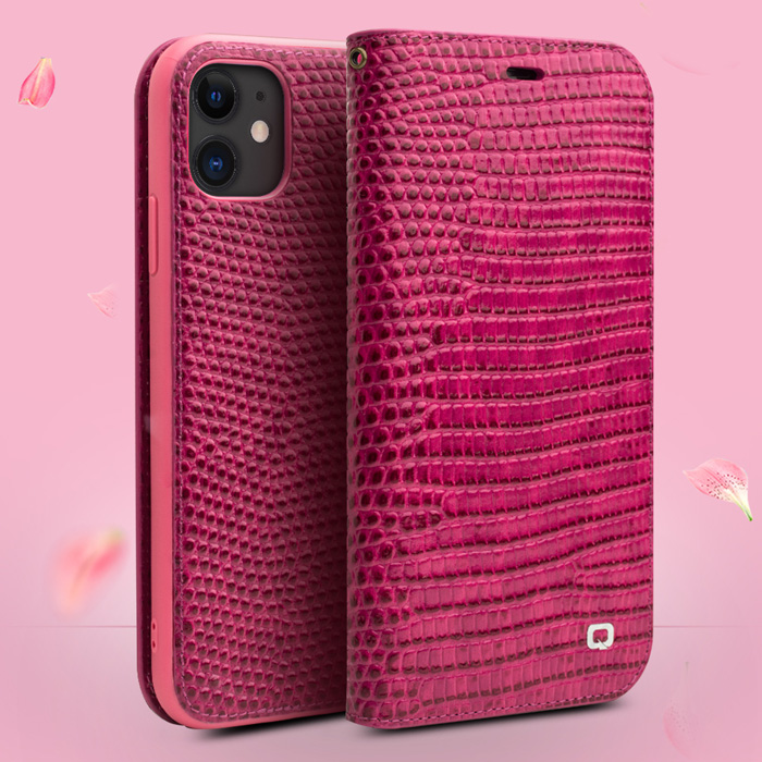 Bao da iPhone 12 Mini Qialino Crocodile Hanmade da thật