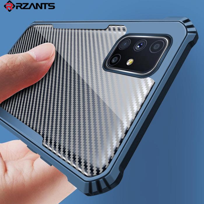 Ốp lưng Samsung M51 Rzants Armor Carbon trong suốt chống vân tay