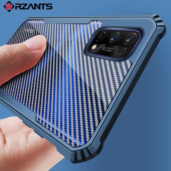 Ốp lưng Realme 7 Pro Rzants Armor Carbon trong suốt vân Carbon