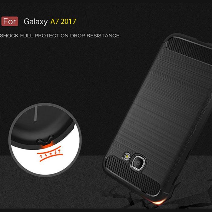 Ốp lưng Galaxy A7 2017 Viseaon Rugged Armor nhựa mềm