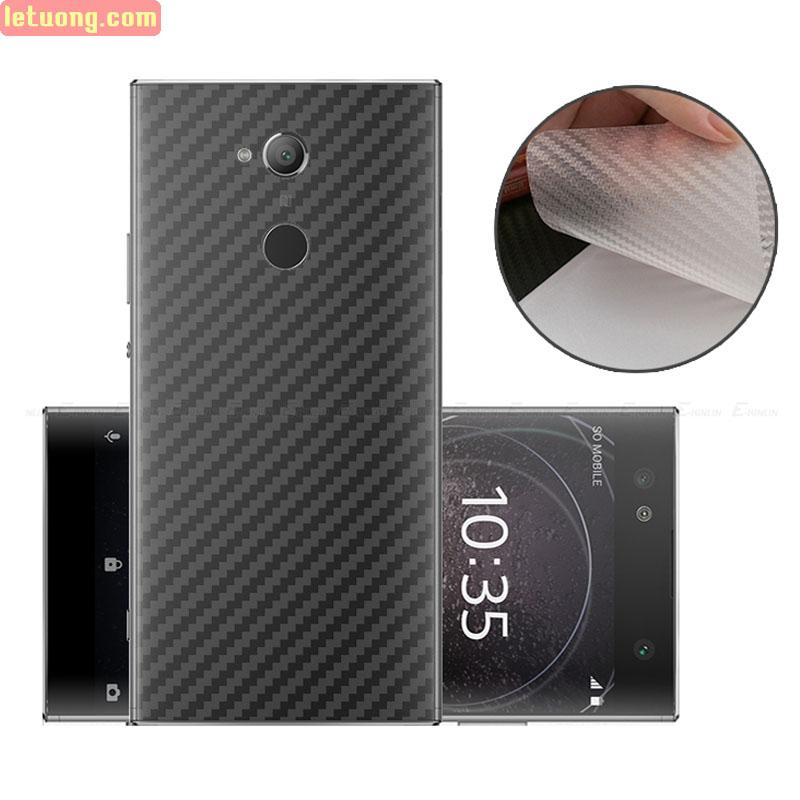 Miếng dán mặt lưng Sony XA2 vân carbon - chống vân tay - Chống xước