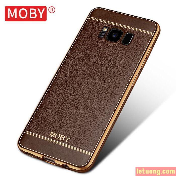 Ốp lưng Galaxy S8 Moby Leather Case lưng da + Móc Treo Iring