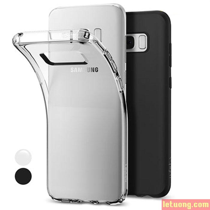 Ốp lưng Galaxy S8 Plus Spigen Liquid Crystal trong suốt nhựa mềm từ USA