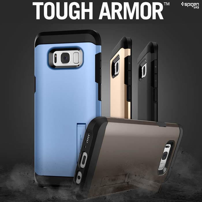 Ốp lưng Galaxy S8 Plus Spigen Tough Armor chống va đập từ Mỹ