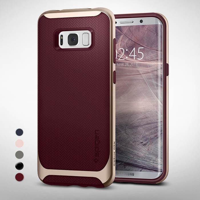 Ốp lưng Galaxy S8 Spigen Neo Hybrid khung viền kép chắc chắn