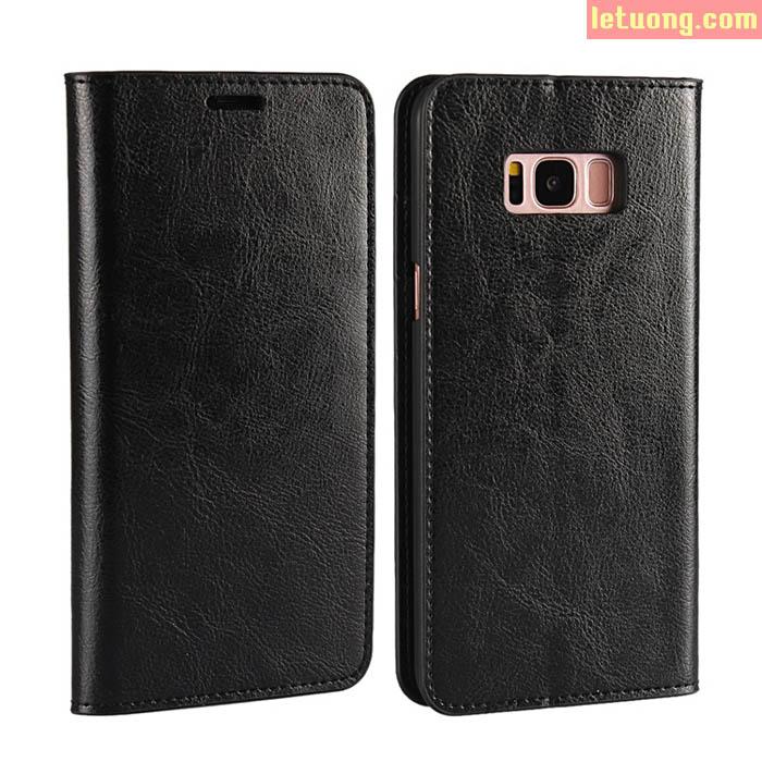 Bao da Galaxy S8 Plus Haoyue Wallet da thật với 4 ngăn ví đựng tiền