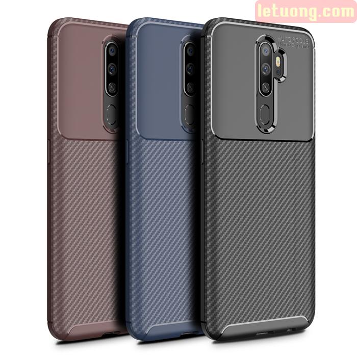 Ốp lưng Oppo A5 2020 LT Carbon Fiber Case chống bám vân tay