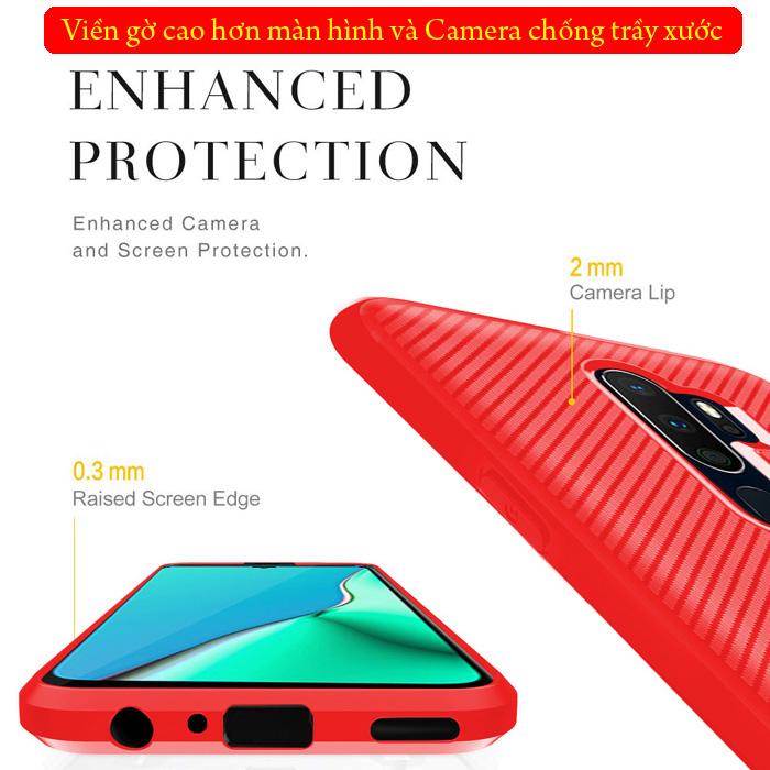 Ốp lưng Oppo A9 2020 LT Neo Carbon nhựa mềm - chống trơn tuột
