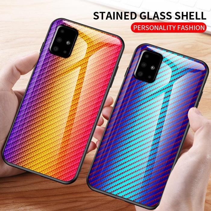 Ốp lưng Galaxy A51 LT Glass Carbon 3D Rất đẹp - Độc Đáo