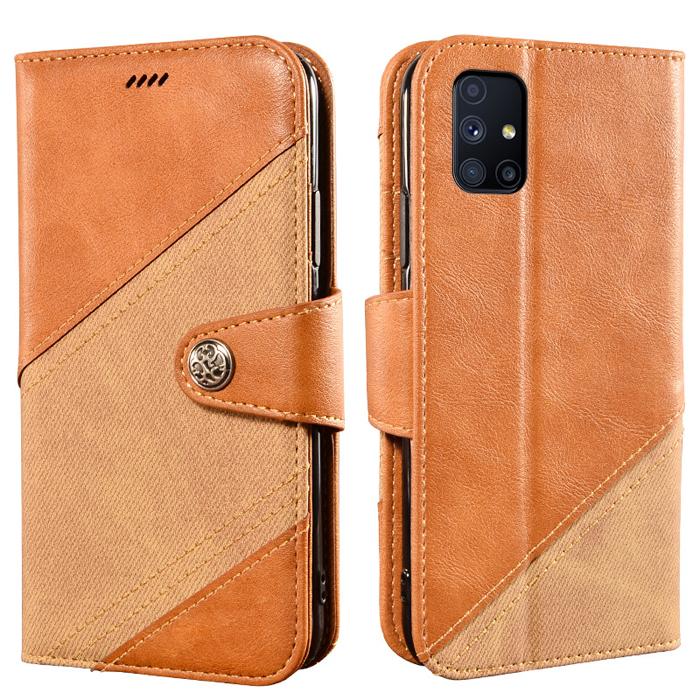 Bao da Samsung M51 LT Wallet Retro dạng ví - thời trang sang trọng