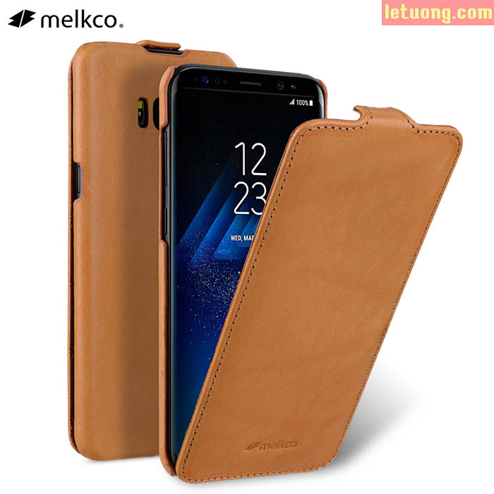 Bao da Galaxy S8 Plus Melkco Jacka Premium da thật Hanmade  ( Germany )
