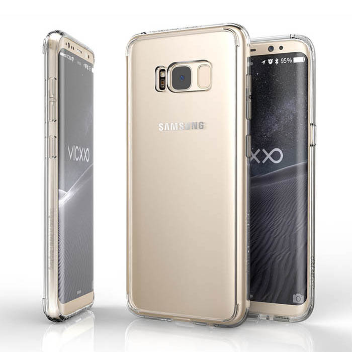 Ốp lưng Galaxy S8 Vicxxo Air Bang trong suốt lưng không ố vàng